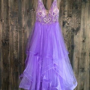 Camille La Vie Lavender Long Prom Dress